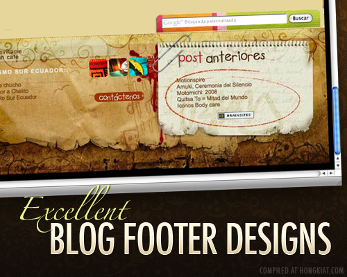 excellent blog footer design