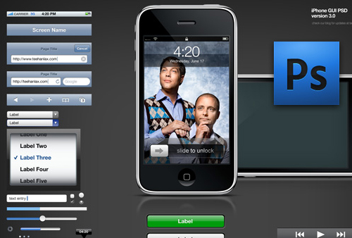 iPhone GUI PSD 3.0