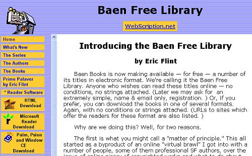 baen free library