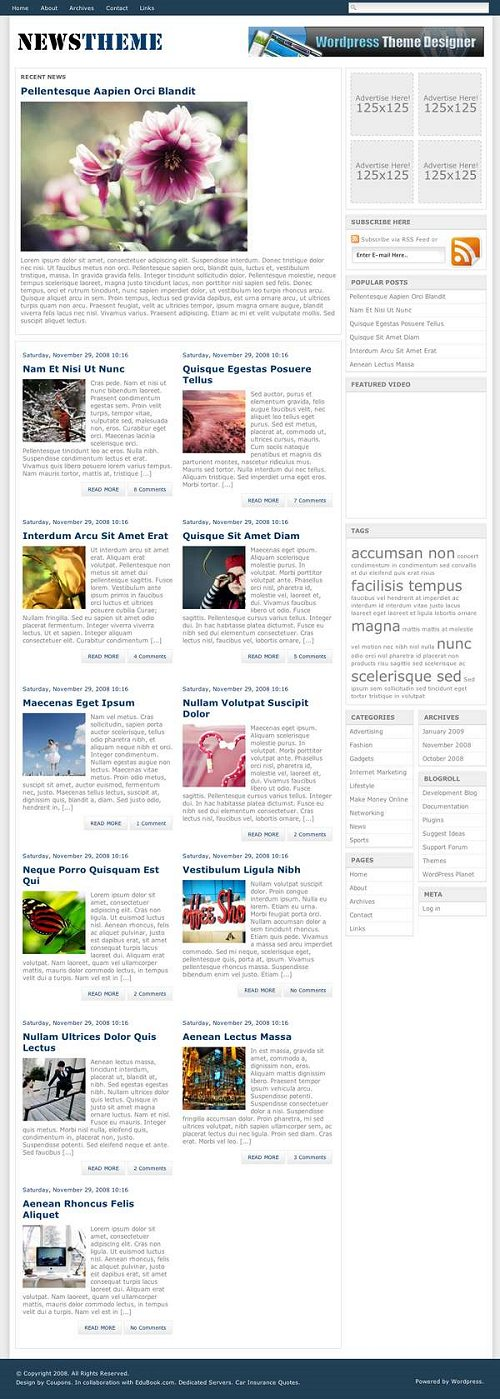 blogi  40 классных бесплатных тем WordPress