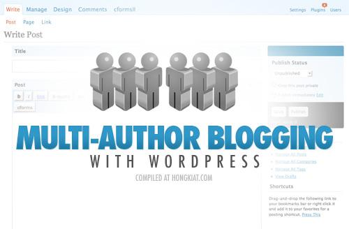 Sådan håndterer du multibloggere på WordPress