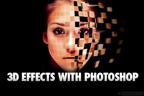 3d effect design with photoshop
