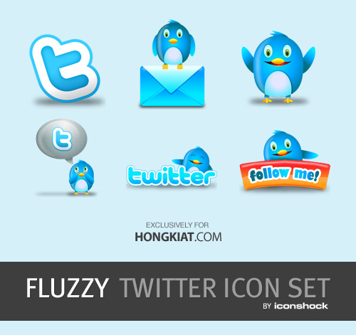 Freebie: Fluzzy Twitter Icon Set